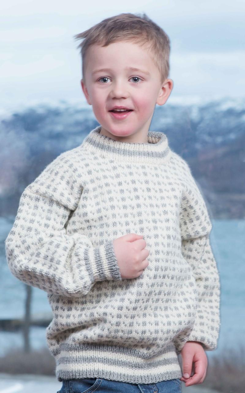 Reykjavik islender strikkegenser i ull Drops 205 18
