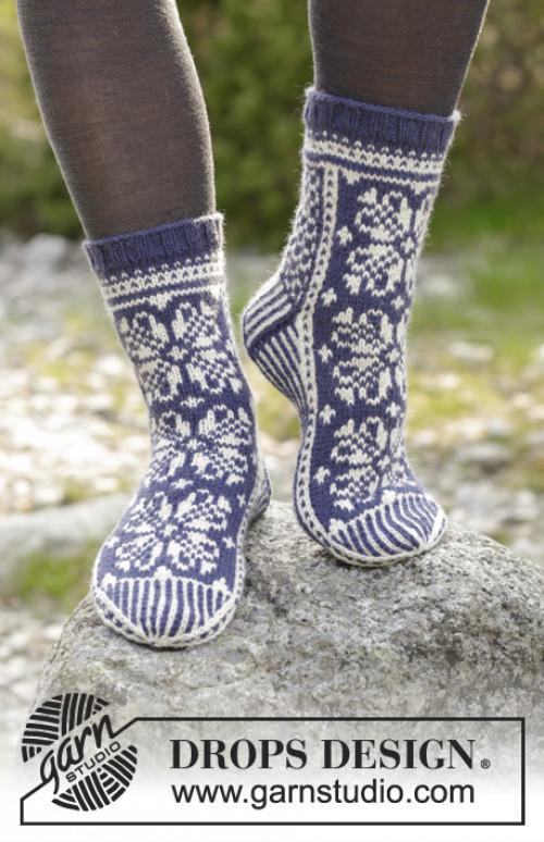 Lofoten sokker i ull - Drops 181-12