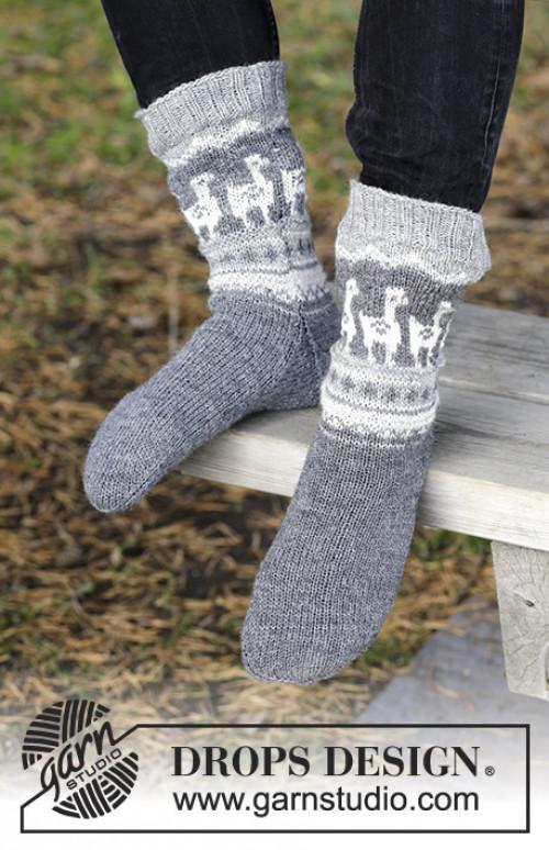 Lama Rama Socks by Drops / 185 / 19