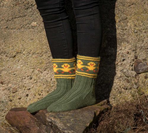 Påskekyllingdans sokker - Viking 1906-07