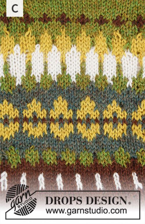 Heim genser med lue - Drops 207-1