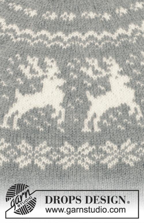 Silver Stag genser fra Drops 157-23