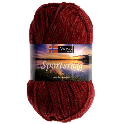 Viking garn - Sportsragg 561 - Vinrød