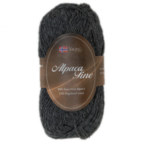 Viking garn - Alpaca Fine 615 - Mørk grå