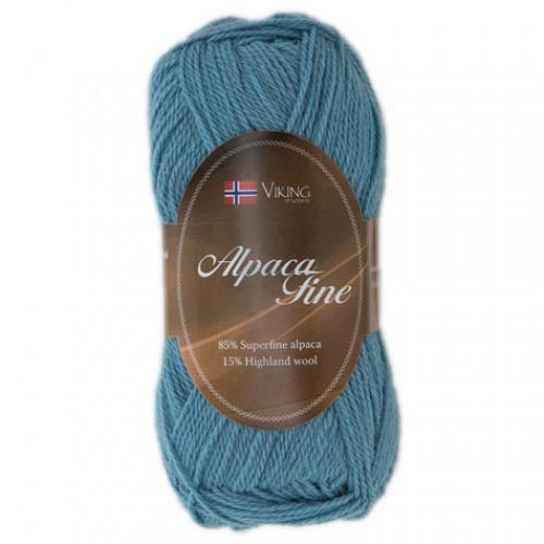 Viking garn - Alpaca Fine 668 - Lys turkis