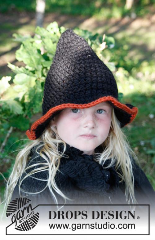 Merlina heksehatt til Halloween - Drops 0-779