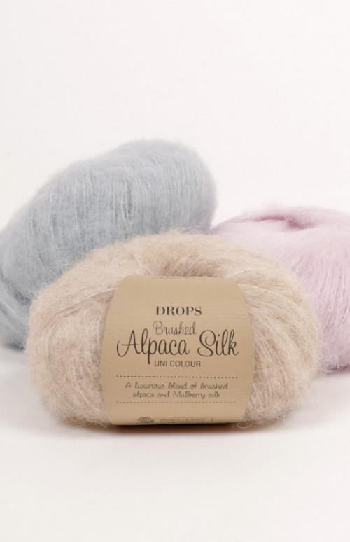 Drops Brushed alpaca silk uni colour - 17 Lys lavendel
