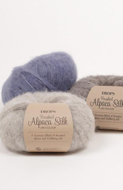 Drops Brushed alpaca silk uni colour - 15 Lys sjøgrønn