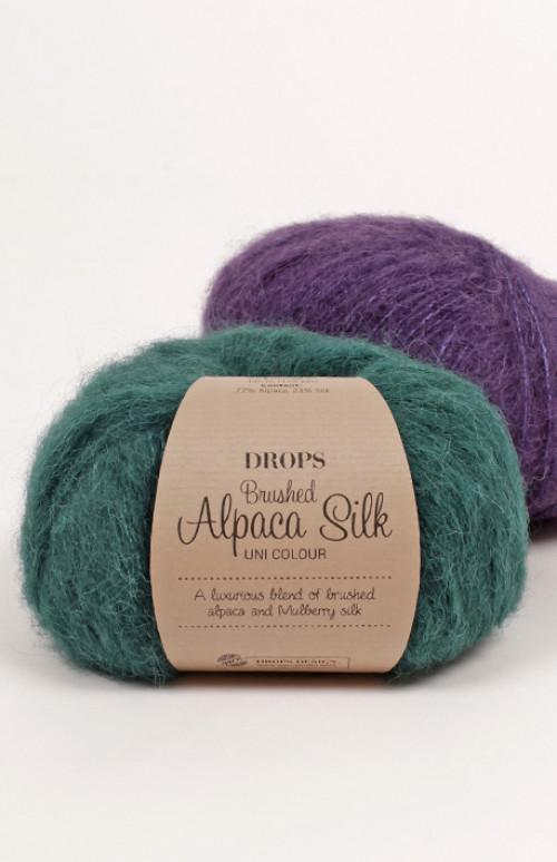 Drops Brushed alpaca silk uni colour - 10 Fiolett