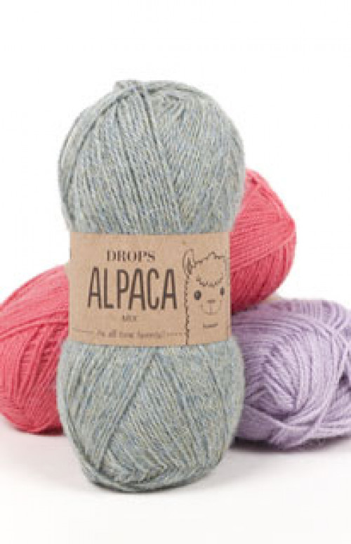 Drops Alpaca uni colour - 4010 Perlegrå