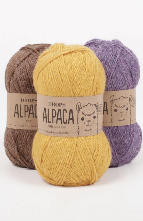 Drops Alpaca uni colour - 101 Hvit