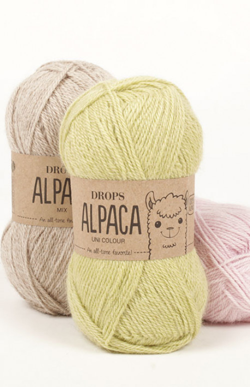 Drops Alpaca uni colour - 6347 Grålilla