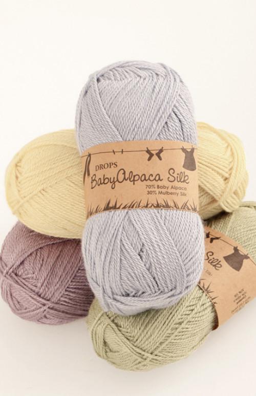 Drops BabyAlpaca Silk uni colour - 6347 Blålilla