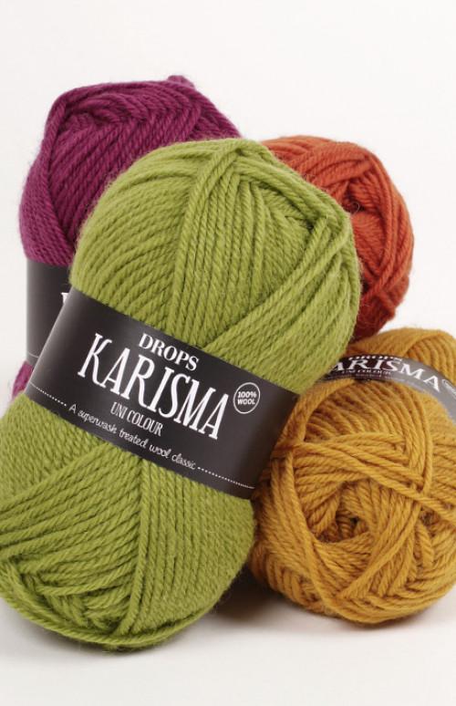 Drops Karisma uni colour - 01 Natur