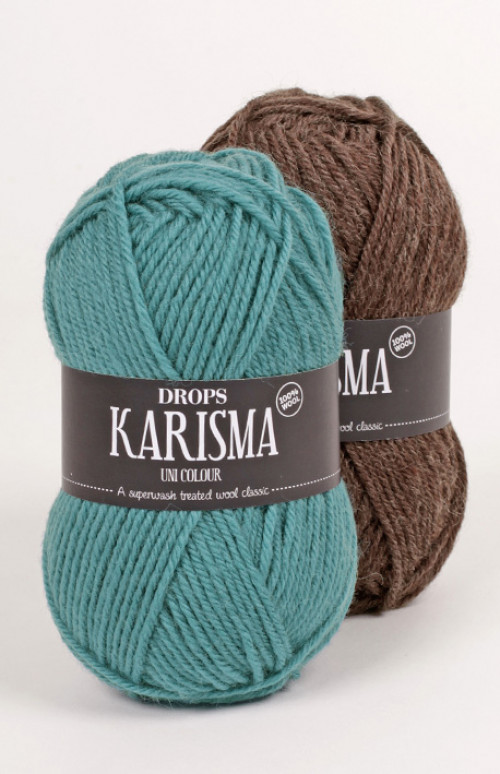 Drops Karisma uni colour - 01 Natur