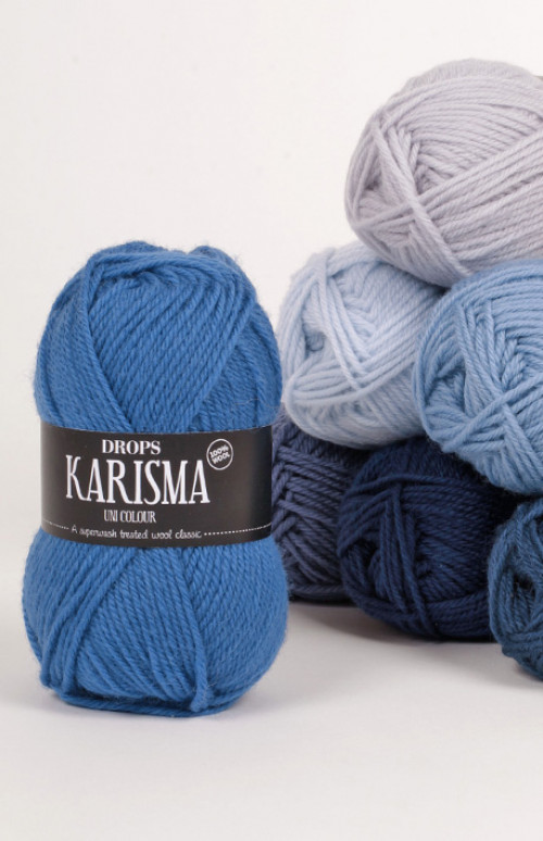 Drops Karisma uni colour - 18 Rød