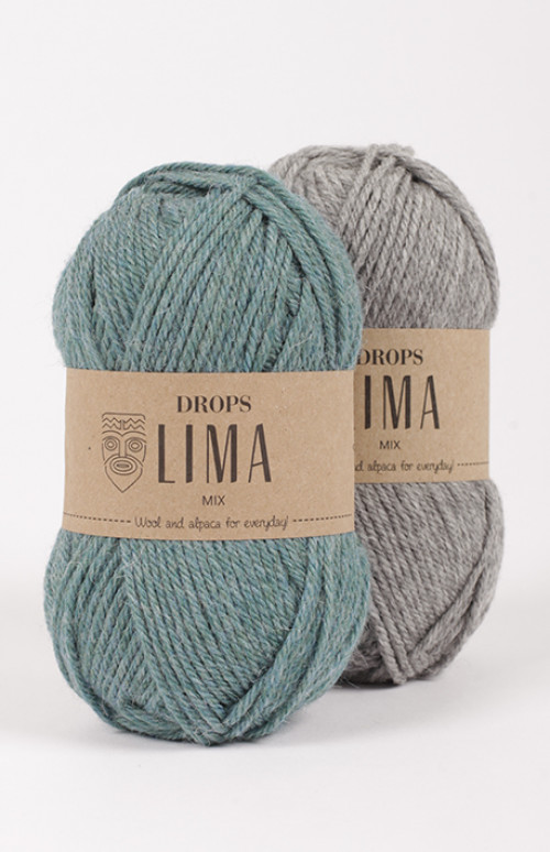 Drops Lima uni colour - 9016 Marineblå
