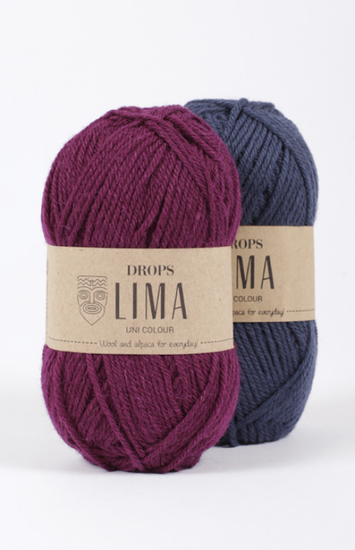 Drops Lima uni colour - 4305 Mørk blå