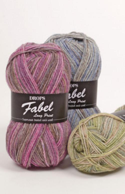 Drops Fabel Print - 340 Blå lagune