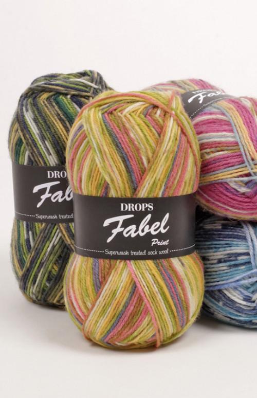 Drops Fabel Uni Colour - 112 Eplegrønn