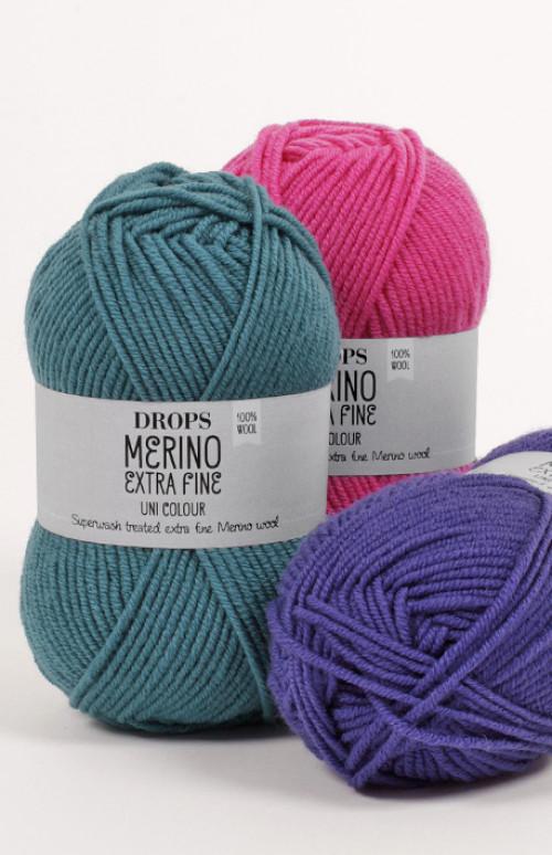 Drops Merino extra fine uni colour - 11 Rød