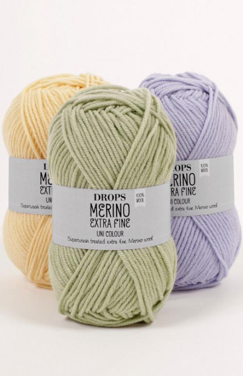 Drops Merino extra fine uni colour - 22 Lys lilla