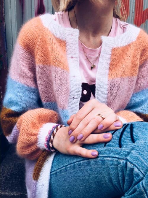 Sorbet cardigan Mille Fryd Knitwear (lang utgave)