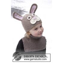 Honey Bunny påskehare-lue og hals til barn - Drops 0-1022
