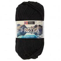 Viking garn - Frøya 201 - Sort