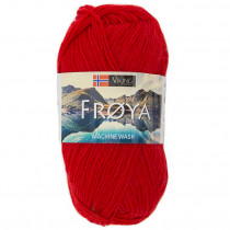 Viking garn - Frøya 204 - Rød