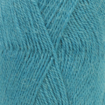 Drops Alpaca uni colour - 2918 Mørk turkis