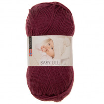 Viking garn - Baby Ull 372 - Burgunder