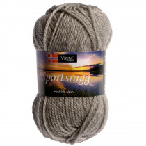 Viking garn - Sportsragg 513 - Grå