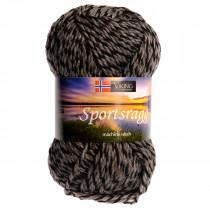 Viking garn - Sportsragg 540 - Grå / Sort