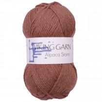 Viking garn - Alpaca Storm 555 - Brunrød