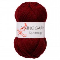 Viking garn - Sportsragg 555 - Mørk vinrød