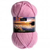 Viking garn - Sportsragg 563 - Lys rosa