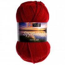 Viking garn - Sportsragg 565 - Rød