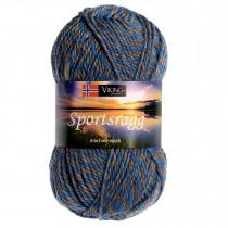 Viking garn - Sportsragg 570 - Grå / Blå