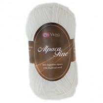 Viking garn - Alpaca Fine 600 - Hvit