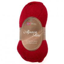 Viking garn - Alpaca Fine 604 - Rød