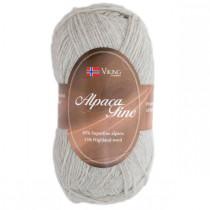 Viking garn - Alpaca Fine 612 - Perlegrå