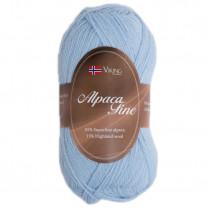 Viking garn - Alpaca Fine 624 - Lys blå