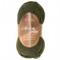 Viking garn - Alpaca Fine 636 - Skogsgrønn