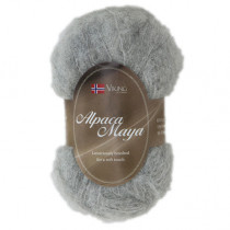 Viking garn - Alpaca Maya 713 - Lys grå