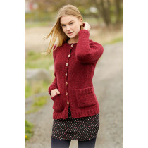Winter Wine cardigan - Drops 164-21