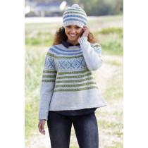 Nova Scotia strikkegenser og lue - Drops 180-22