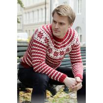 Candy Cane Lane strikket julegenser til herre - Drops 208-5