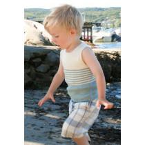 Little Mate strikket singlet til barn og baby - Drops children 28-3
