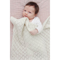 Lay Down strikket babyteppe i merinoull - Drops baby 29-8